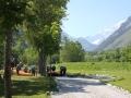 W tle można podziwiać Mont Blanc