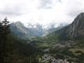Widok na masyw Mont Blanc z tarasu widokowego w Pré-Saint-Didier