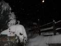 Nocne opady śniegu w Dolinie Aosty.