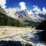 giornata stupenda courmayeur panorama beautiful day dentedelgigante acqua fiume dorabalteahellip