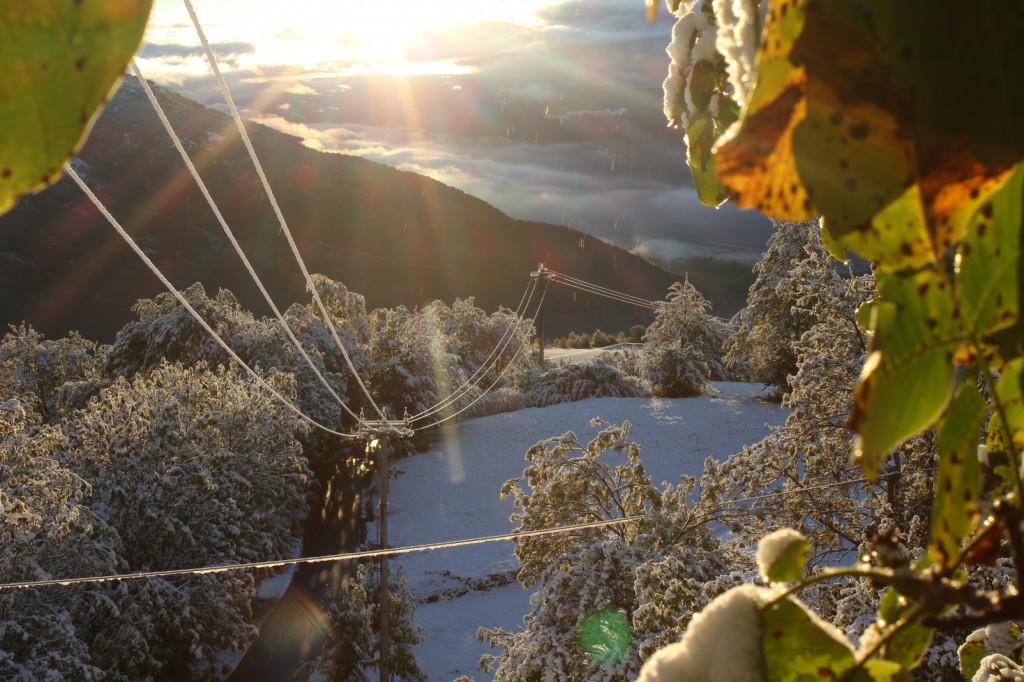 Dolina Aosty pokryta pierwszym śniegiem