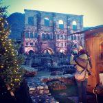 mercatinodinatale ad Aosta ai piedi del teatroromano  un esperienzahellip
