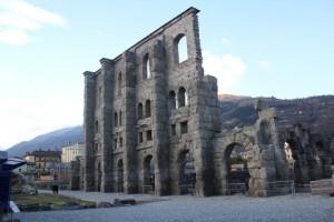 Teatr rzymski w Aoście.