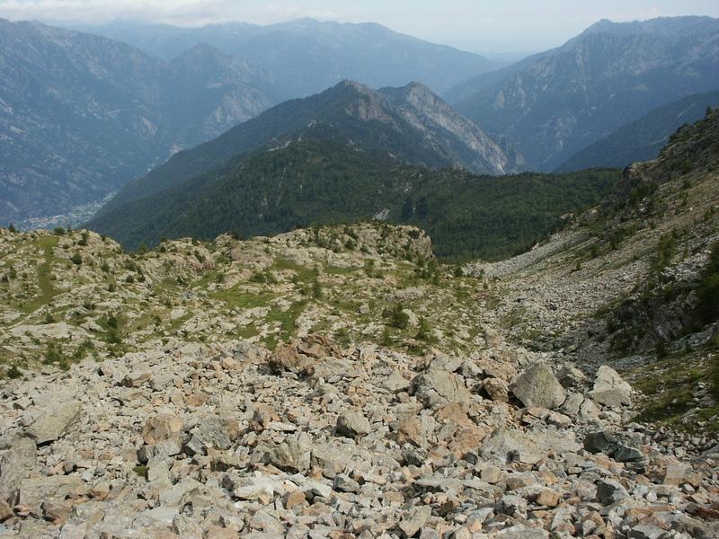 Górskie szczyty w Dolinie Aosty