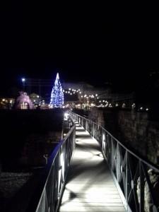 Jarmark bożonarodzeniowy w Dolinie Aosty. Centrum Aosty Marche Vert Noel.