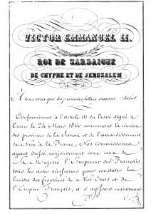 Konwencja turyńska podpisana pomiędzy Francją, a Królestwem Sardynii w 1861 roku.