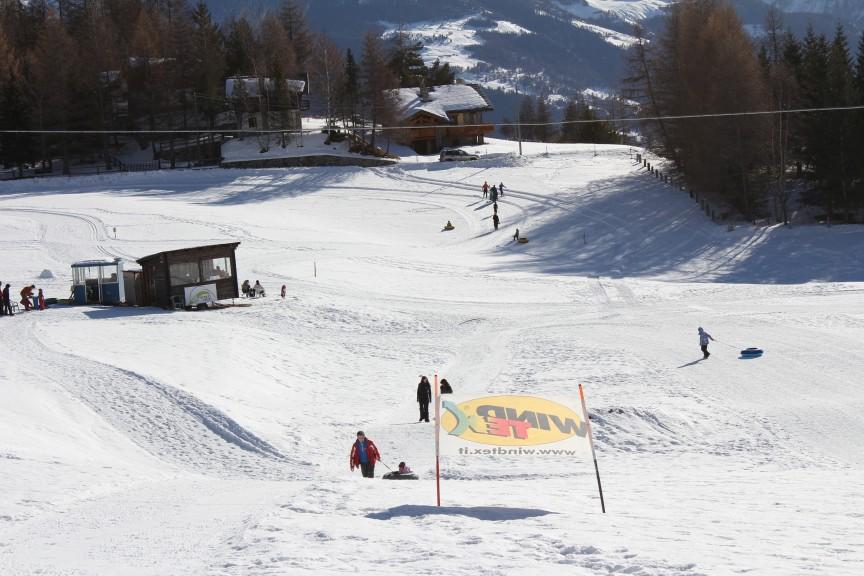 Snowpark Vétan w Dolinie Aosty.