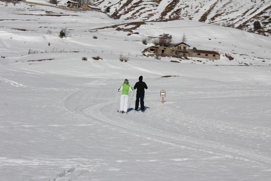 Narciarska trasa biegowa w Vétan w Dolinie Aosty.