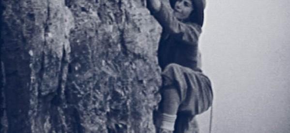 Alpinistka Nini Pietrasanta podczas jednej z wypraw na alpejski szczyt.