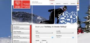 Rezerwacja on - ine hotelu w Dolinie Aosty poprzez stronę Regionalnego Ministerstwa Turystyki http://www.lovevda.it/turismo/dormire_e_mangiare/booking/default_e.asp