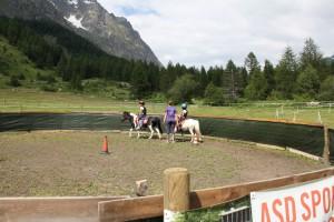 Letnia arena jeździecka w Val Ferret