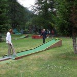 Mini golf w Val Ferret
