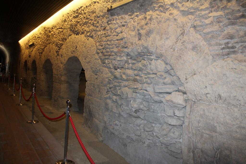Wnętrze cryptoporticus w Aoście.