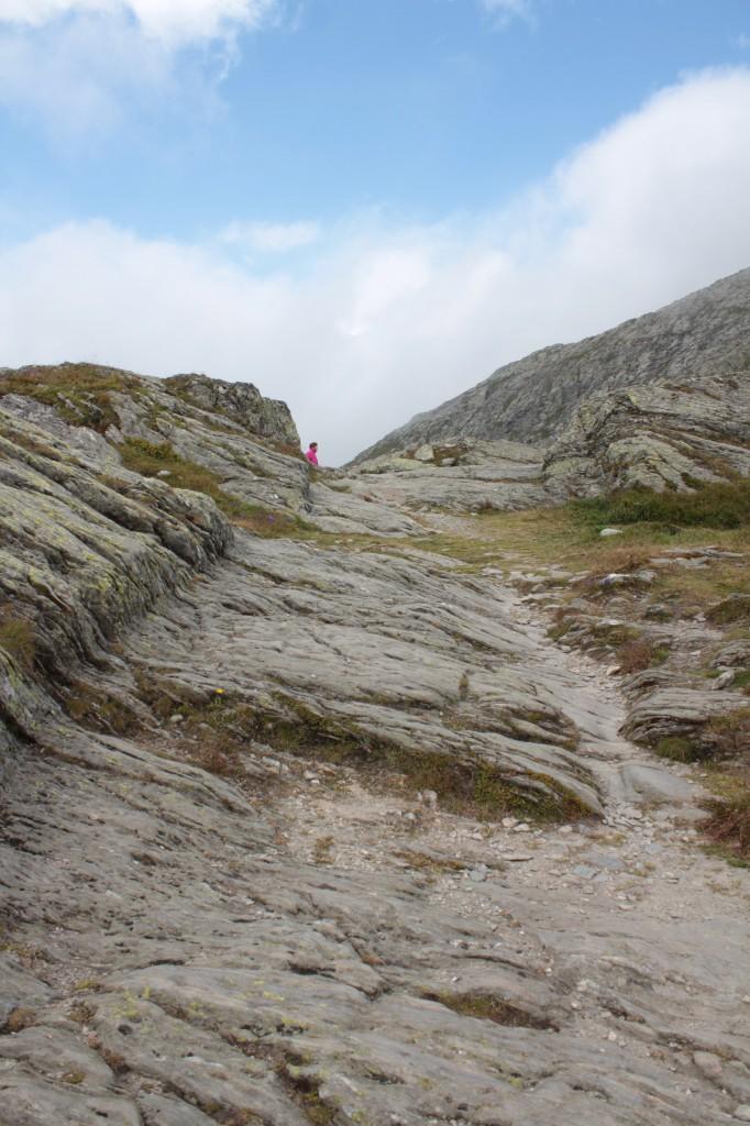 Pozostałości drogi rzymskiej na Wielkiej Przełęczy Świętego Bernarda