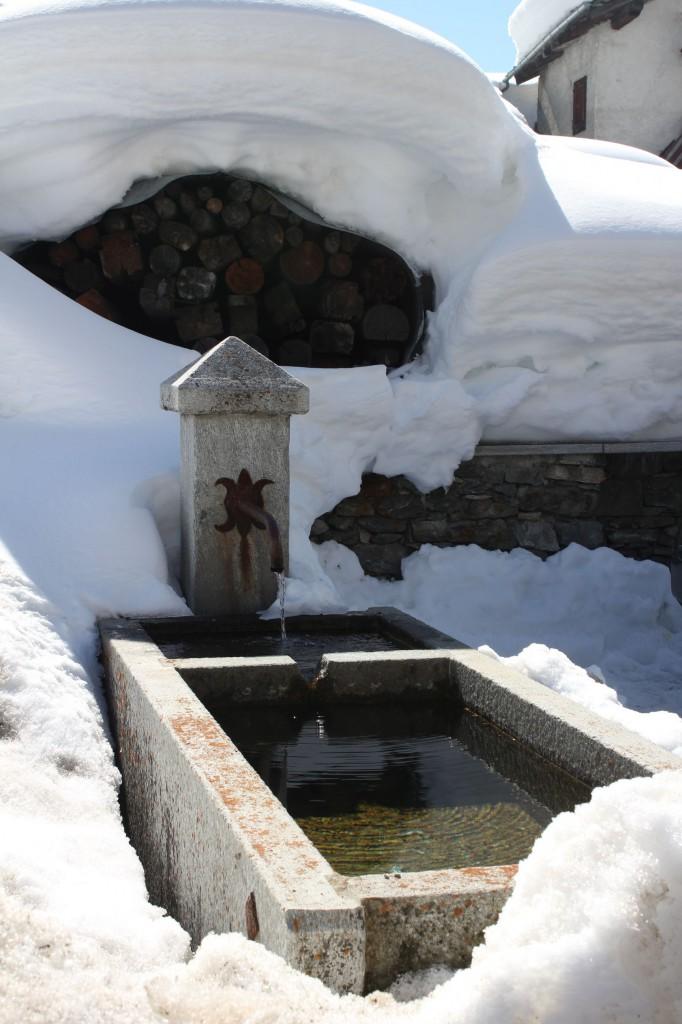 Fontanna zimą