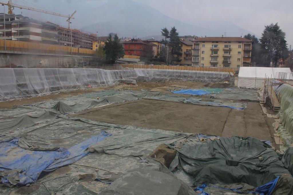 Budowa nowej części szpitala w centrum Aosty.