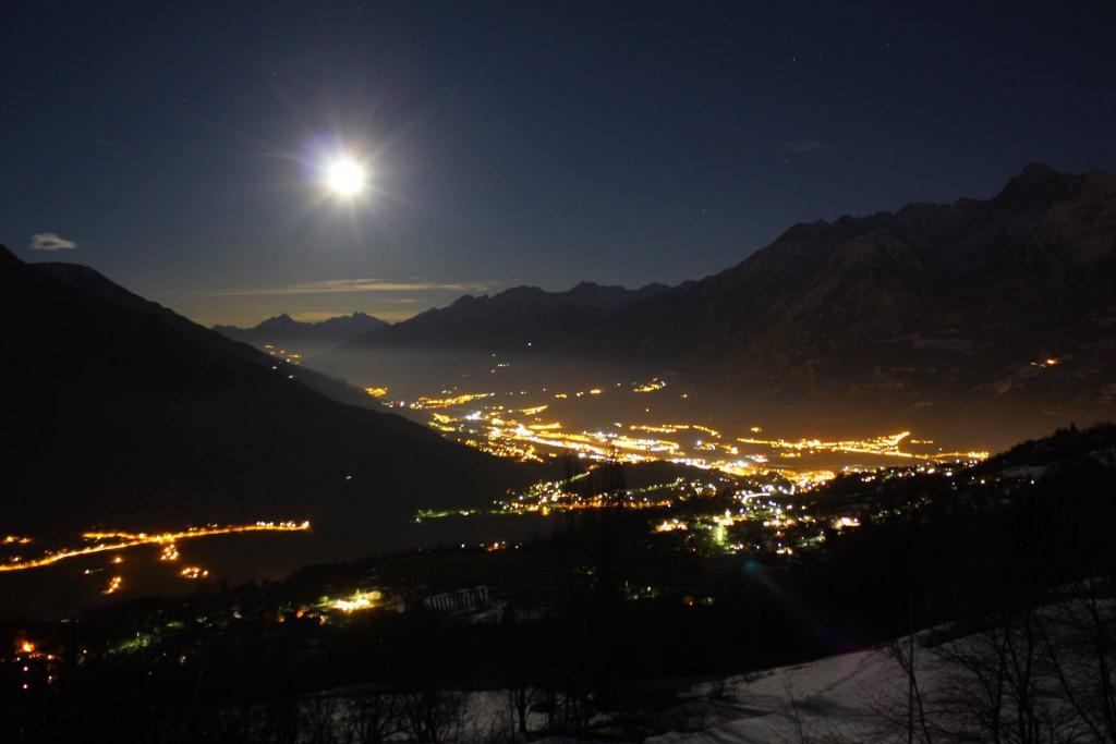 Pełnia księżyca nad Doliną Aosty