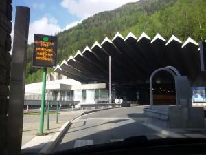 Tunel Mont Blanc po włoskiej stronie.