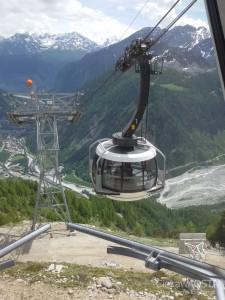 Skayway Monte Bianco przy stacji Pavillon