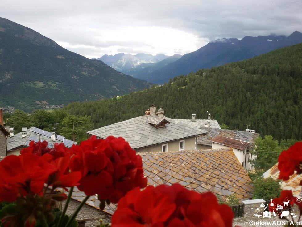 Vista sulla valle da Buthier.