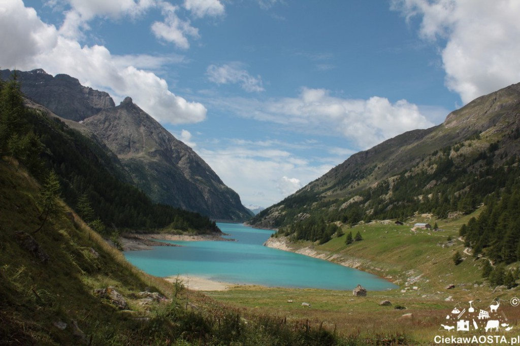 Jezioro Prarayer w Bionaz. Wspaniały szlak górski, przeznaczony dla wszystkich (również z wózkami)
