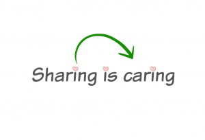 sharing is caring logo