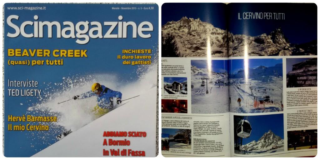 Włoski miesięcznik o narciarstwie Scimagazine, w którym każdy amator białego szaleństwa znajdzie coś ciekawego do poczytania.