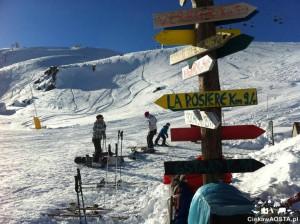 Jak na narty to tylko w Alpy! Na zdjeciu ośrodek Espace Saint Bernard na granicy francusko-włoskiej.