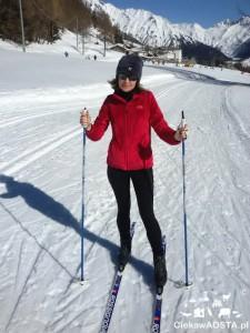 Na nartach biegowych w Arpy - Morgex.