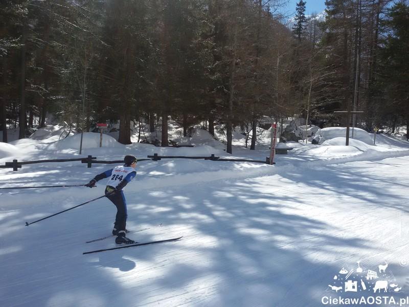 Bionaz. Biathlonowe zawody młodzików.
