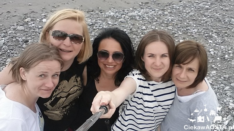 W komplecie, od lewej: Jagoda, Renata, Dominika, ja i Aneta.