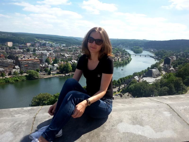 Z góry zawsze są piekne widoki, nawet w mieście ;-) . Na zdjęciu Namur w belgijskiej Walonii.