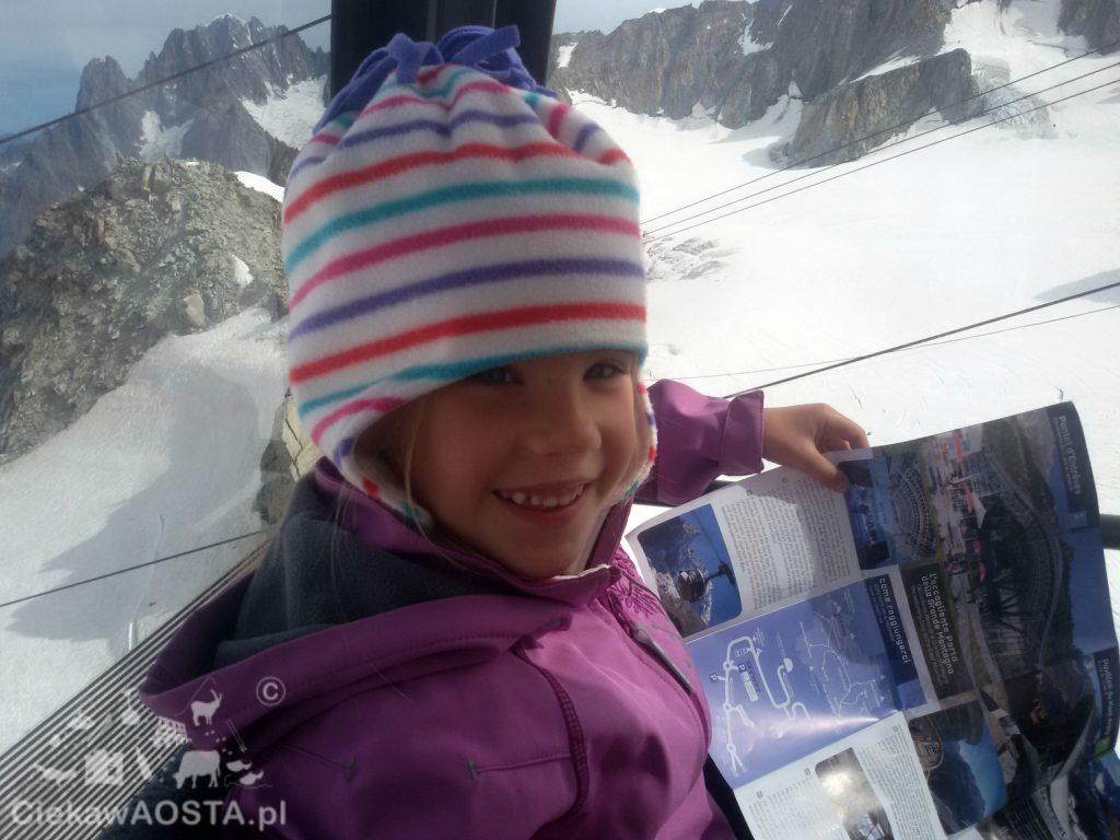 Wagonik kolejki Panoramic Mont Blanc i przejazd nad lodowcem długim na 5 km.