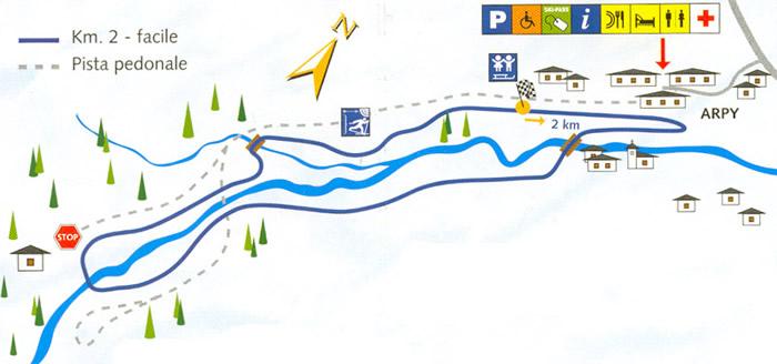 Letni szlak zamienia się zimą w trasę biegową.