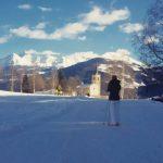 Un momento di relax durante scidifondo saintnicolas sci ski montagnahellip