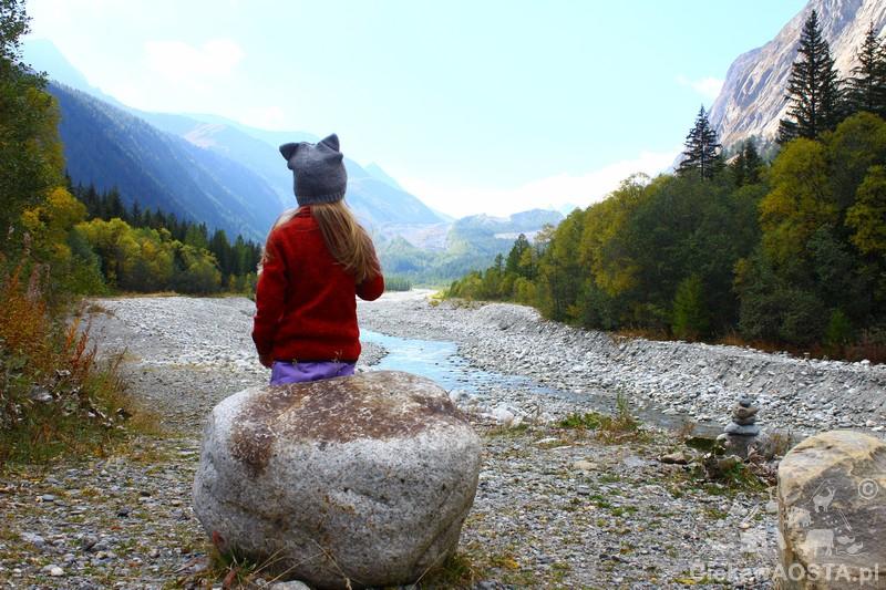 Rzeka Dora di Val Veny.