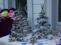 Choinki na jarmarku świątecznym w Dolinie Aosty
