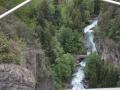 Widok na rzekę Dora di La Thuile z tarasu