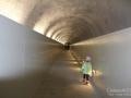 Tunel prowadzący z Punta Helbronner do schroniska