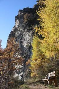 Naturalna ścianka wspinaczkowa Palestra di roccia w miejscowości Gignod