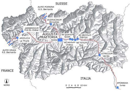 Droga rzymska Gallów w Dolinie Aosty. Źródło www.regione.vda.it