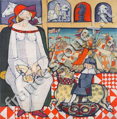 Francesco Nex, tytuł obrazu: Kobieta, która kochała konie, 1965 r.