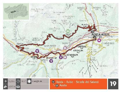 Trasa Salassi, prowadząca po wzgórzach Aosty, Saint-Pierre i Saint-Nicolas. Źródło Lovevda.it