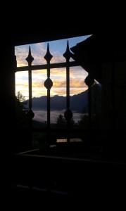 Wschód słońca w Alpach