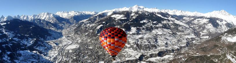 Lot balonem nad Doliną Aosty