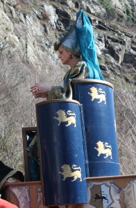 Karnawał w Verrès w 2014 roku. Na zdjęciu Caterina di Challant