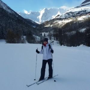 Valle del Gran San Bernardo w ośrodku narciarstwa biegowego we Flassin.
