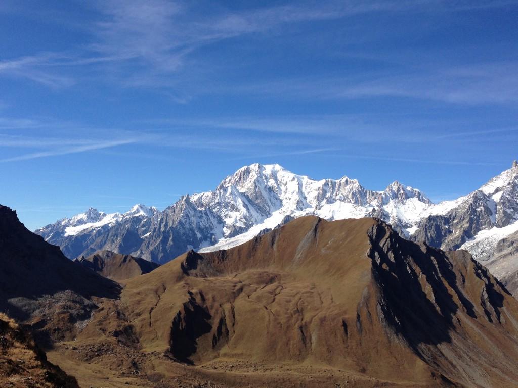 Widok na Mont Blanc z Col Malatrà. Archiwum Alex.