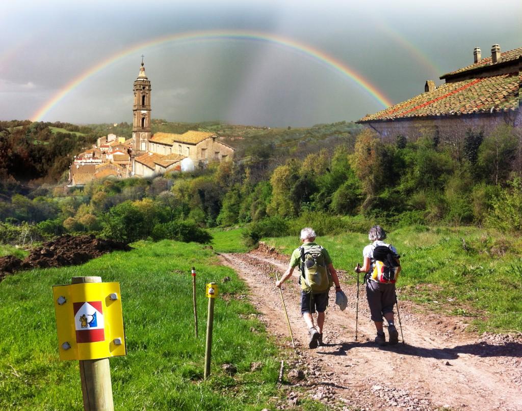 Via Francigena gdzieś w Lazio... Źródło TU.