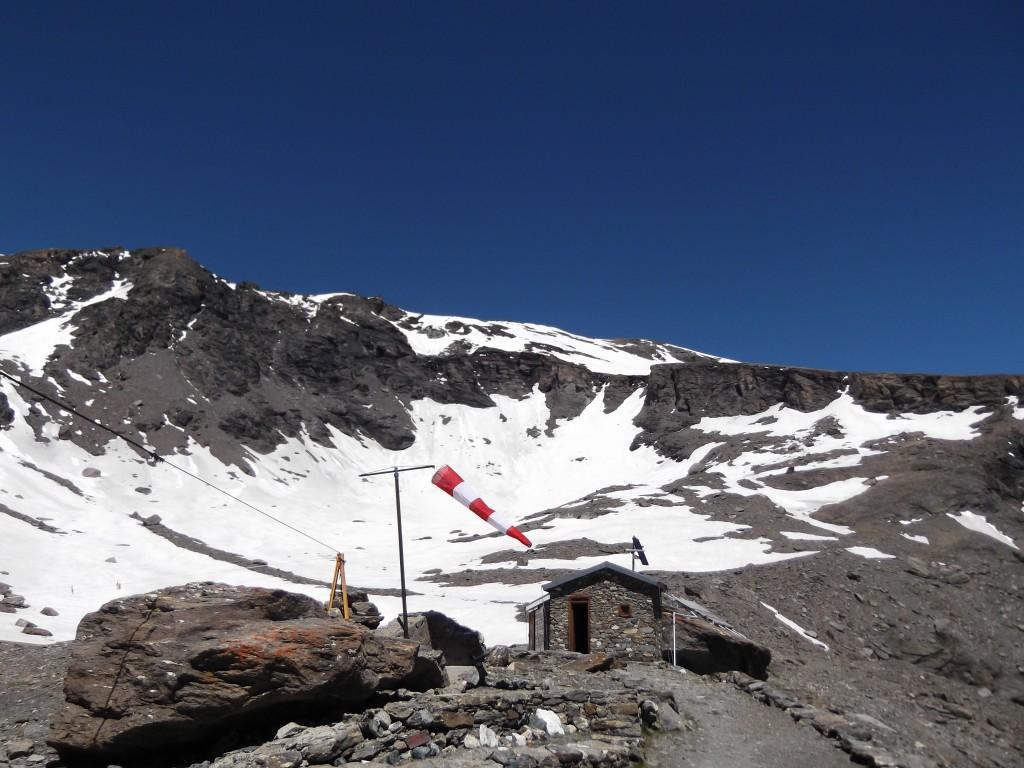 Schronisko Amianthe na wysokoci 3.000 m n.p.m. w Ollomont
